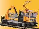 H0 ROBEL track motor car 54.22 WIEBE withtesting pantograph and working basket, 2 rail v.