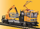 H0 ROBEL Track motor car 54.22 WIEBE with testing pantograph and crane basket