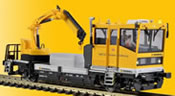 H0 ROBEL Digital track maintenance vehicle with functional crane & (SOUND)