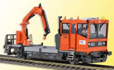 ROBEL Track motor car 54.22 ÖBB version with movable crane, functional model for 2 rail version
