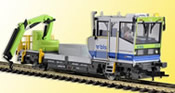 ROBEL Track motor car 54.22 BLS version with movable crane, functional model for 2 rail version