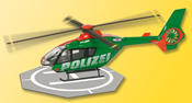 HO Police helicopter with rotating rotor  (Action figure)