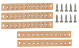 Terminal strip 10-pole with screws, 5 pieces