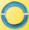 Coil of wire, 10 meters, 0.14mm diameter, blue