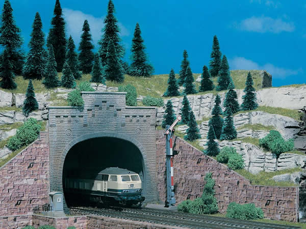 Vollmer 42503 - Tunnel portal with top, double track, 2 pcs.