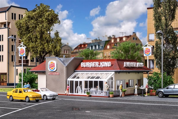 Vollmer 43632 - Burger King fast food restaurant with interior and LED-lighting, functional kit