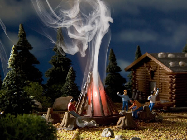 Vollmer 43667 - Campfire with red flickering light, functional kit