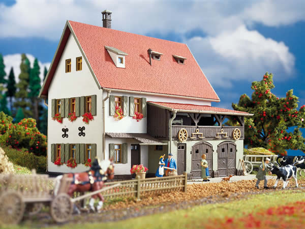 Vollmer 43721 - Farm house with shed