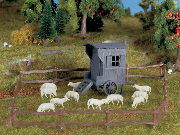 Vollmer 43742 - Shepherd carriage and sheep flock