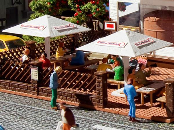 Vollmer 45138 - Beer garden sunshades, 4 pieces