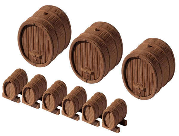 Vollmer 45246 - Wine barrels, 9 pieces