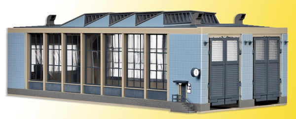 Vollmer 45765 - E-Loco shed with door lock mechanism, double track, functional kit