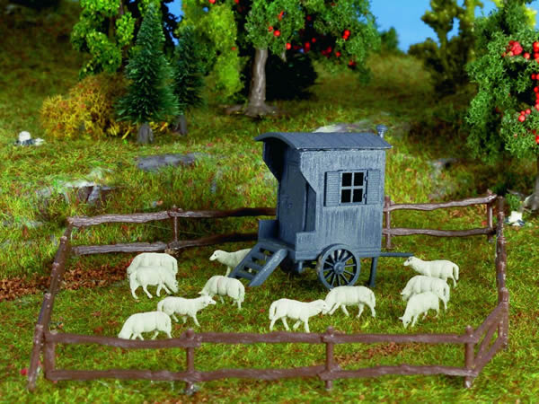 Vollmer 47717 - Shepherds carriage with flock of sheep