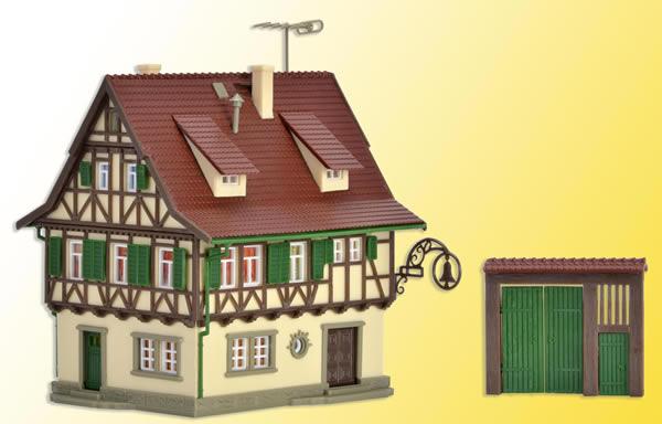 Vollmer 47731 - Inn Zur Glocke with lighting, functional kit