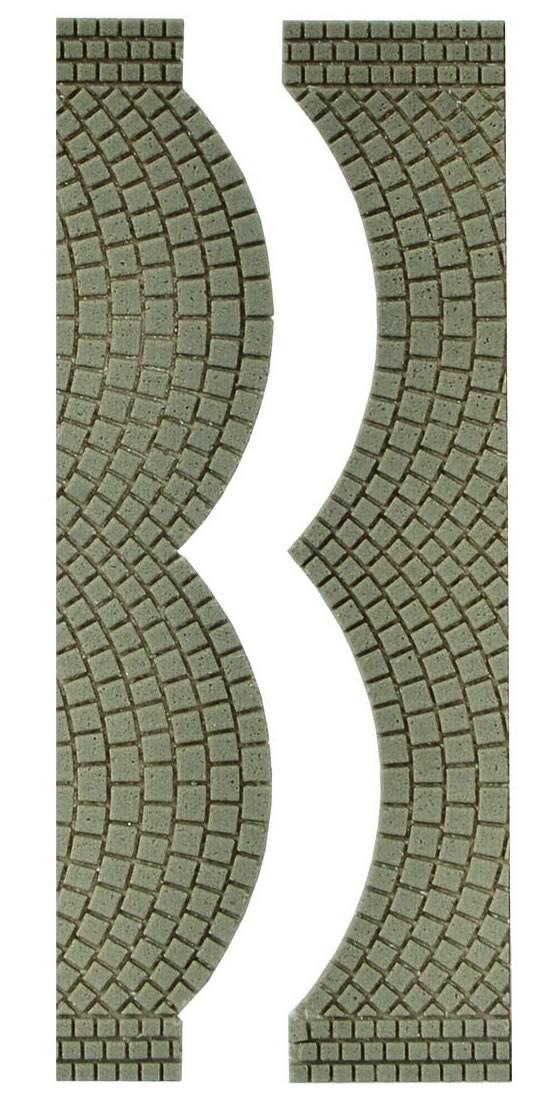 Vollmer 48244 - Street plate cobblestone, each 2 end pieces
