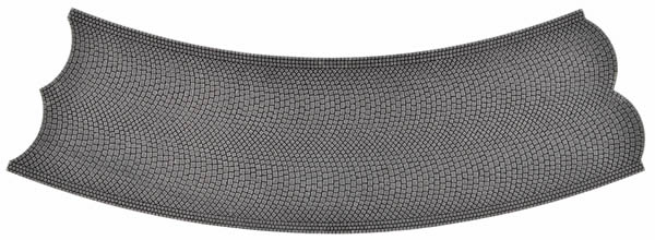 Vollmer 48258 - Street tile Cobblestone stone art, 45 °, opposite, radius 30 cm