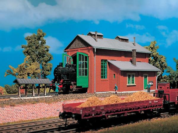 Vollmer 49110 - Loco shed, single track