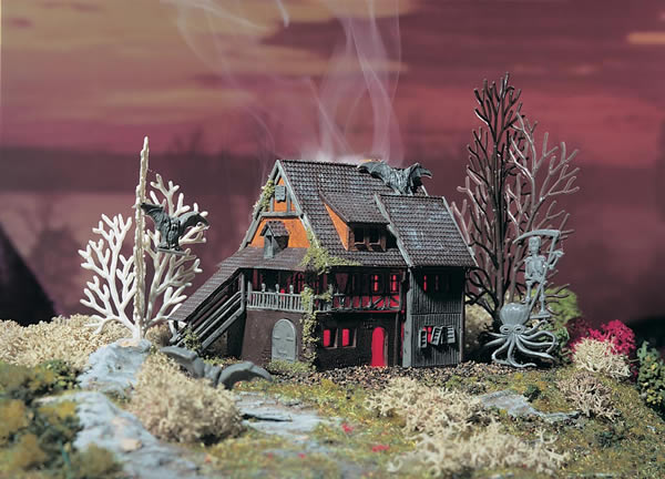 Vollmer 49679 - Villa Vampire with red flickering light and colour tablets, functional kit