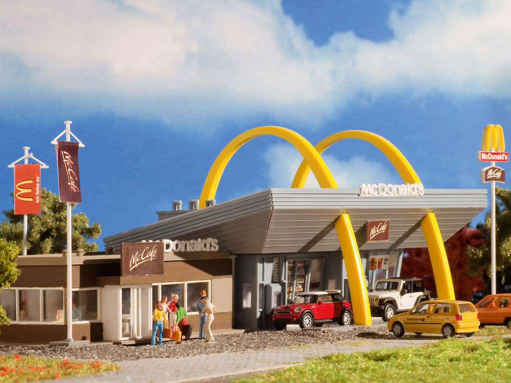Vollmer 43635 Mcdonald S Fast Food Restaurant With Mccaf 233