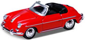 Porsche 356 B Cabrio, red, finished model