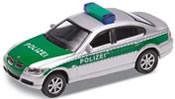 BMW 330i Polizei, green/silver, finished model