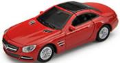 Mercedes-Benz 500 SL 2012, red, finished model