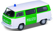 VW Bus T2 1972, police, green/white, finished model