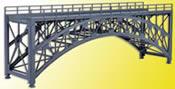 Steel arched bridge Schlossbach, straight