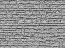 Wall plate cut-stone of plastic