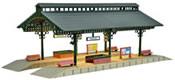 Platform hall with LED lighting, functional kit