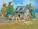Barn with yard gate
