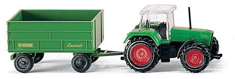 Wiking 96001 - Fendt tractor w/trlr grn