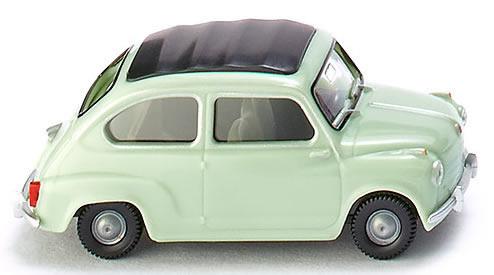 Wiking 9902 - Fiat 600 Clth Rf Lght Grn
